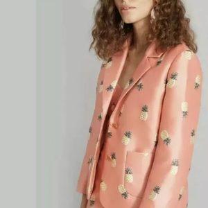 Kate Spade Apricot Pineapple Print Jacket Size 0